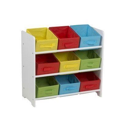 Image of   Opbevaringsreol til børneværelset med 9 rum.