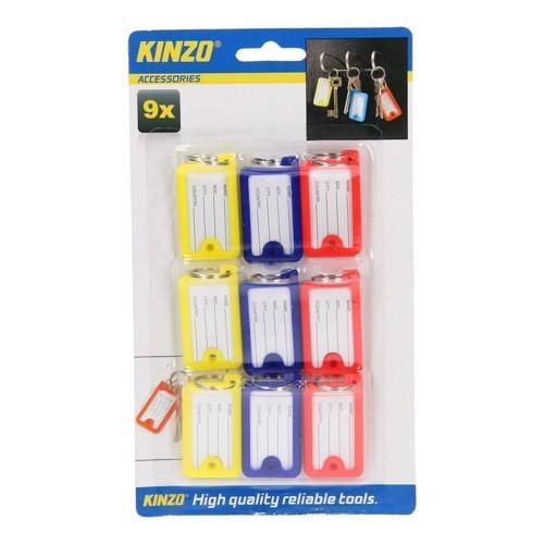 Kinzo Nøglering med skrivbar holder, 9 stk
