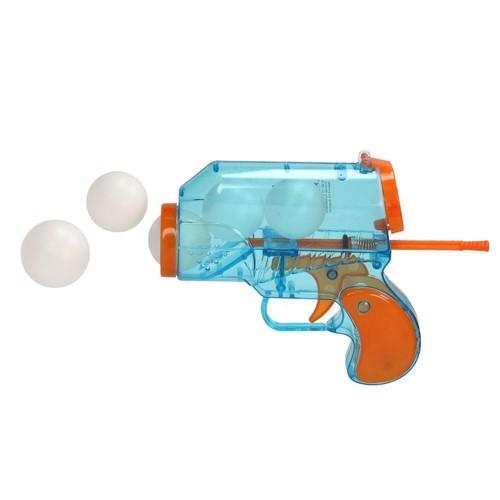 Image of   Legetøjspistol med bordtennisbolde