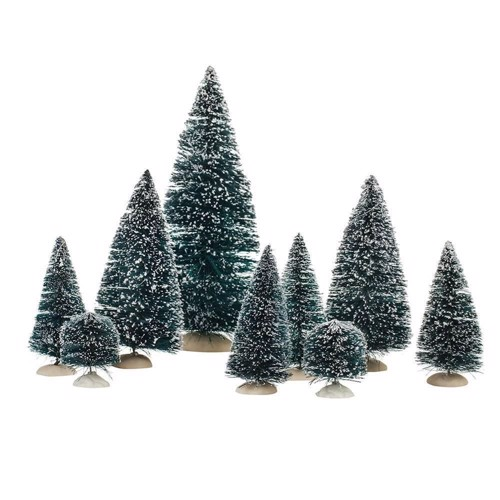 Image of   Christmas trees, 9st.