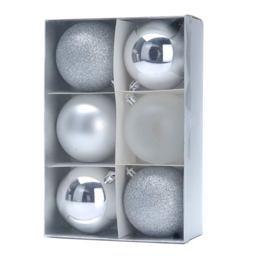 Image of Christmas balls silver, 6pcs. (8711295425486)
