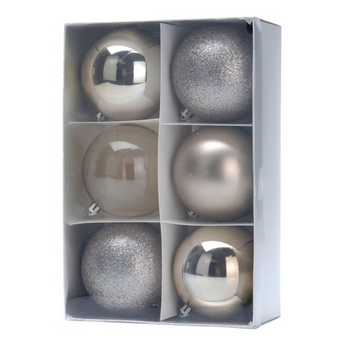 Image of   Christmas balls Champagne, 6pcs.