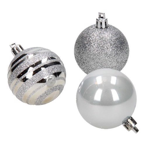 Image of   Christmas balls silver, 12pcs.