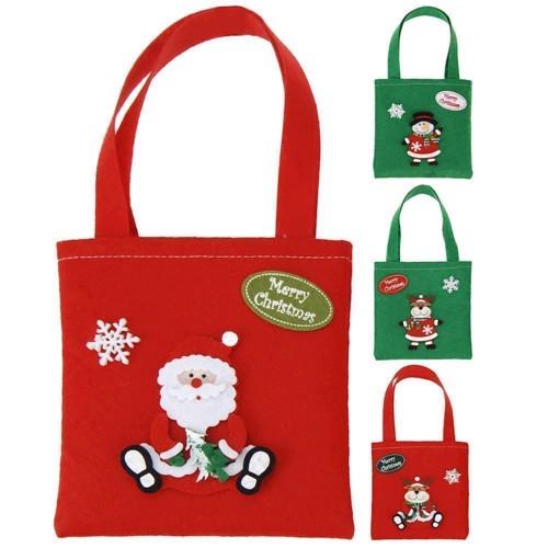 Image of   Filt taske med julemotiv, pris er pr. stk