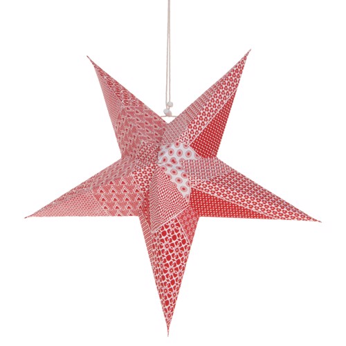 Image of   Christmas star with Glitter Red