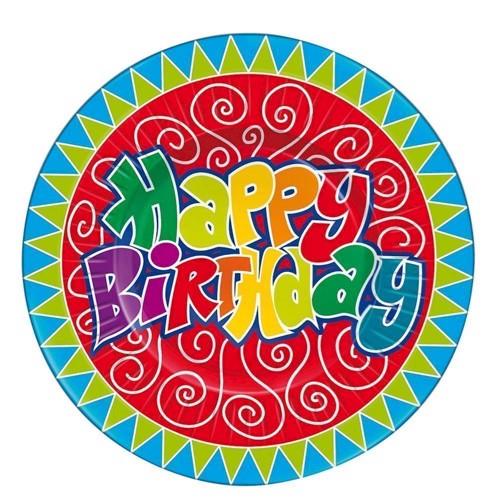 Signs Happy Birthday, 8pcs.