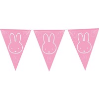 Flags line Miffy pink, 6mtr.