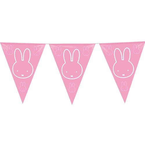 Image of Flags line Miffy pink, 6mtr.