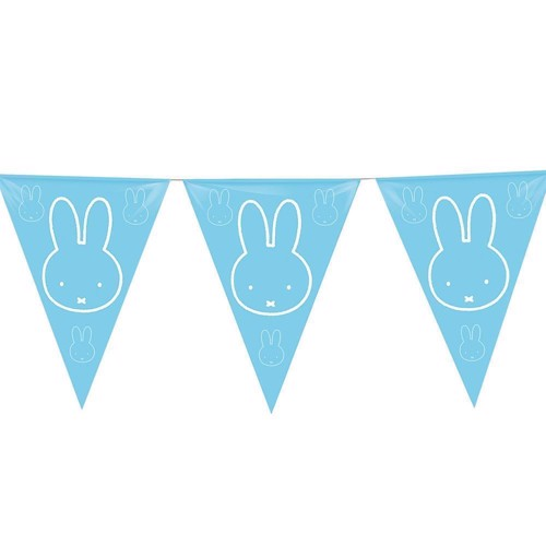 Image of Flags line Miffy blue, 6mtr.