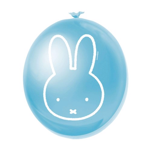 Image of Balloons Miffy blue, 6pcs.