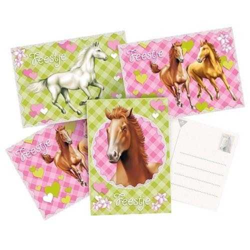 Image of   Invitation Cards Horses. 6pcs