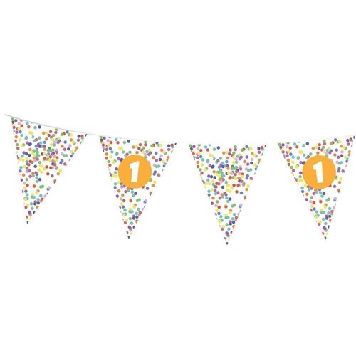 Image of Flags line Confetti 1 year, 10mtr.