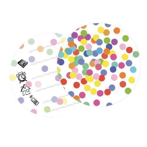 Image of Invitations Confetti, 6pcs.