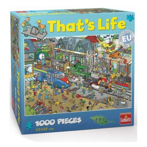 Image of   Thats Life-train station, 1000pcs.