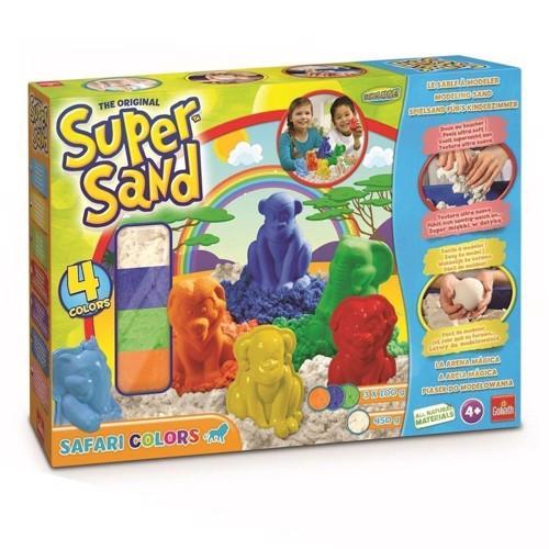Image of Super Sand Safari sæt med farvet magisk sand (8711808832268)