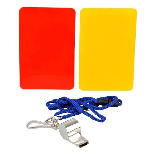 Image of   Sports Active Dommersæt med fløjte og gult/rødt kort