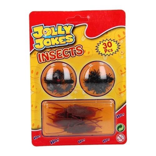 Image of   Jolly Jokes Insekter, 30 stk