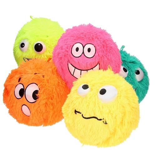 Image of Fuzzy Ball, pelsbold med ansigt 23cm, pris er pr. stk. (8711866242610)