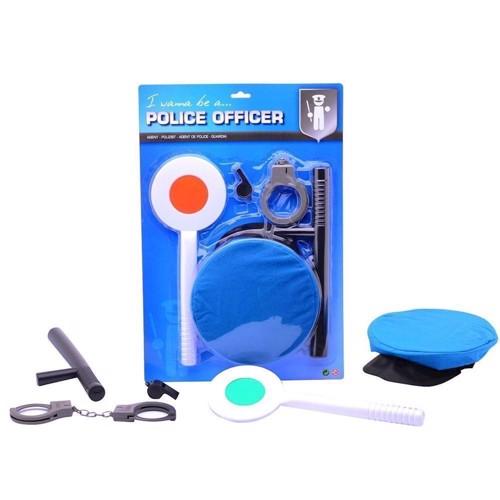 Image of   Politibetjent, børnesæt, legetøj