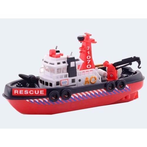 Image of Byens rednings havnebåd 23cm med vandsprøjte (8711866262694)