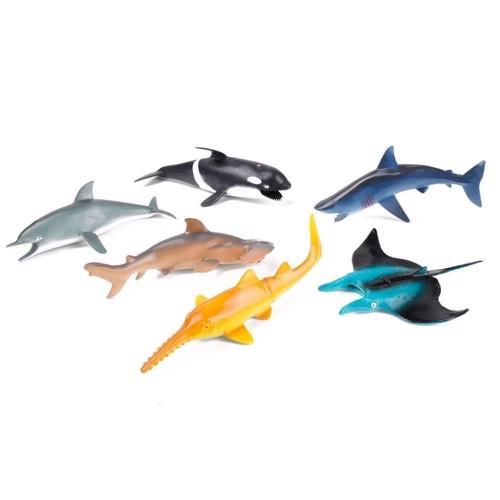 Image of   Legetøjsfigur - Havets dyr, figurer, 6 stk