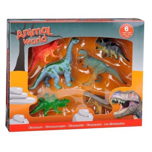 Image of Dinosaur gaveæske med 6 stk (8711866267842)