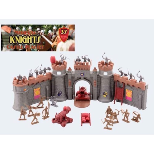 Image of Ridderfigurer med slot