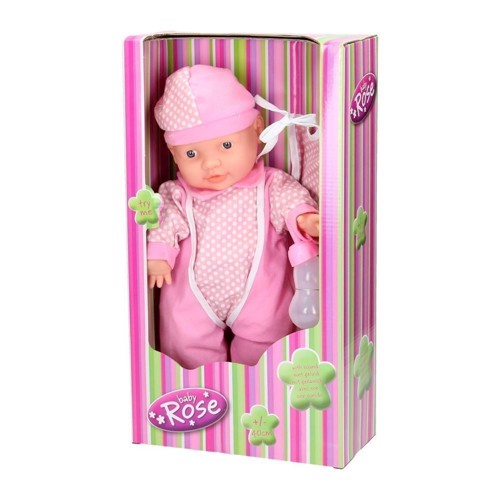 Image of   Baby Rose dukke med lyd, 40 cm