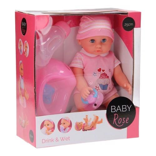 Image of   Baby Rose Dukke, 25cm
