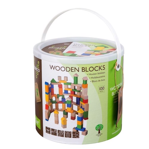 Image of Jouéco wooden blocks, 100pcs.