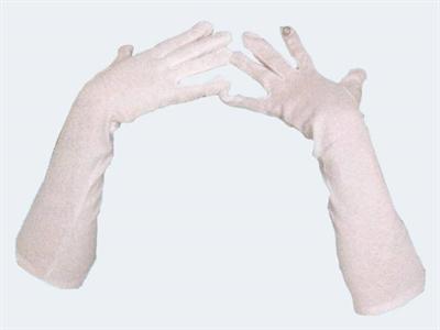 Image of   Handsker lange hvid