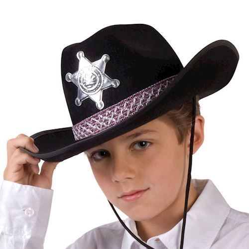 Image of   Children Hat Sheriff Black