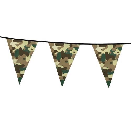 Image of   Camouflage Flagline, banner, 6 meter