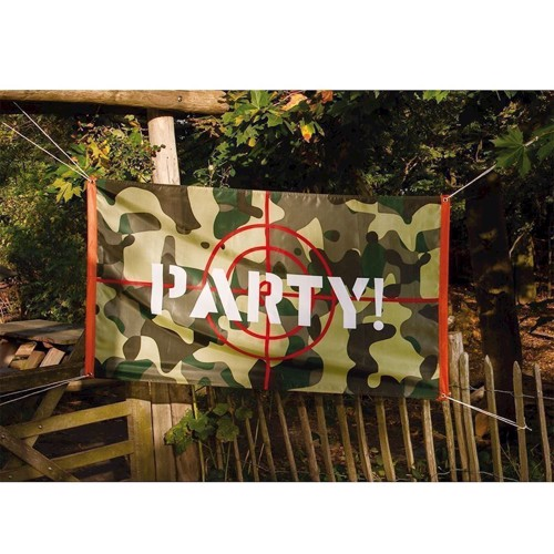 Image of   Camouflage Flag Party! Festartikel