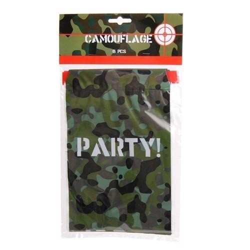 Image of   Camouflage Slikposer, 6 stk.