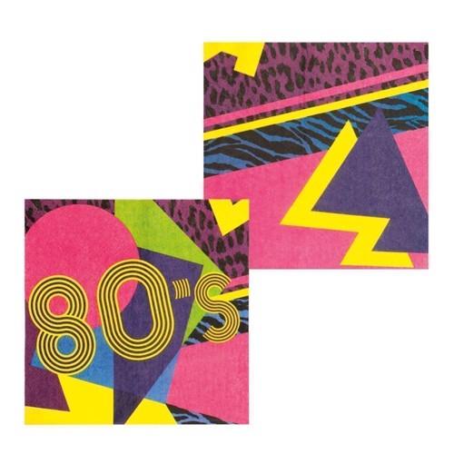 Image of   Servietter, 80 ´er tema 12 stk
