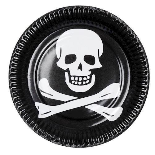 Image of   Tallerkener, Pirat, 6 stk