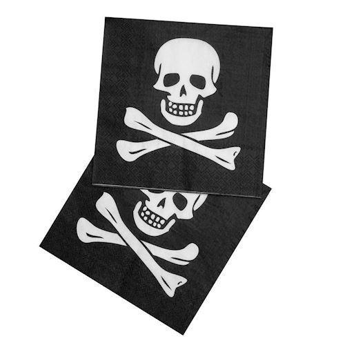 Image of Servietter, Pirat, 12 stk (8712026741691)