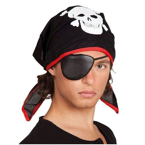 Image of Pirate bandana with eye flap for children (8712026741950)
