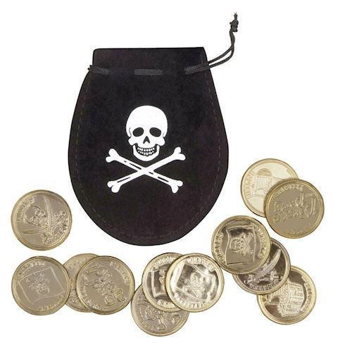 Image of Pirat sæk med mønter (8712026743008)