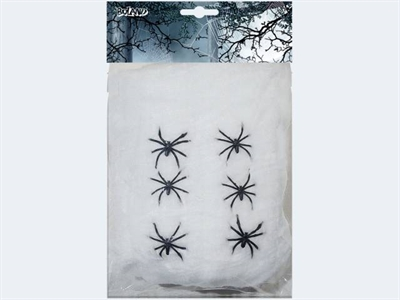 Image of   6 Halloween edderkopper med spin