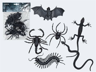 Image of   Halloween pynt 6 dyr