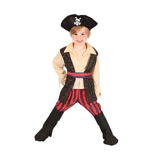 Image of   Childrens Pirate Costume 3-4