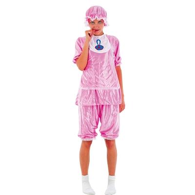 Udklædning, Voksen, Baby, Pink, Str. M køber du billigt her.