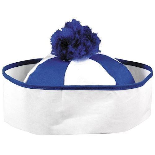 Image of   Bobby hat blå/hvid