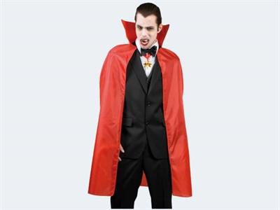 Image of   Halloween Vampyr kappe 120cm, rød