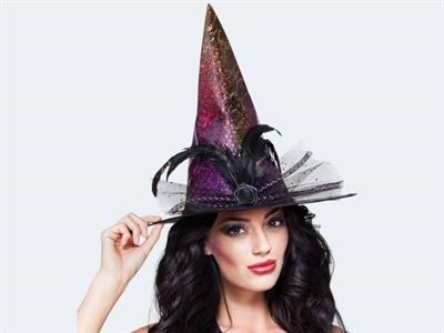 Halloween Hexenhut Petrolea