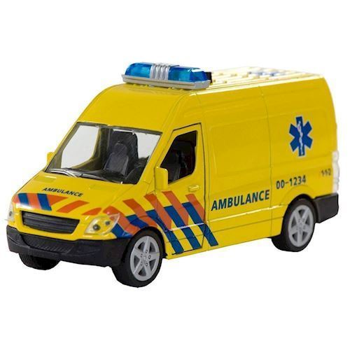 Image of   Ambulance med lys og lyd