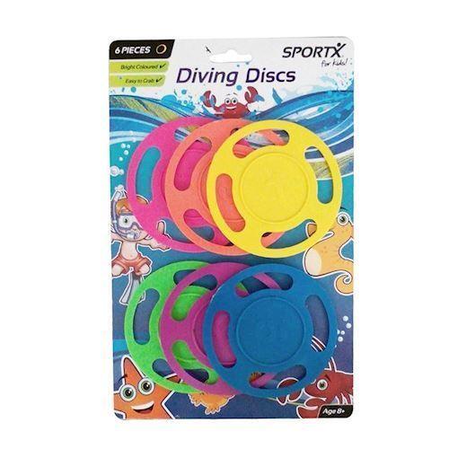 Image of SportX Dykker discs, 6 stk. (8712051216508)