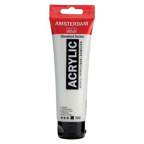 Amsterdam Akryl maling, Titanium hvid, 120ml